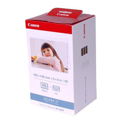 Canon KP-108IN Postcard-size 10x15cm Inkt/Papier-set