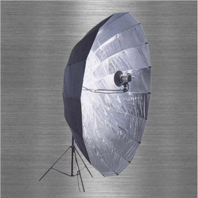 Visico Big Reflector Paraplu AU-130 Zwart / Zilver 220cm (29023)
