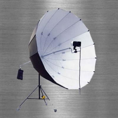 Visico Big Reflector Paraplu AU-140 Zwart / Wit 220cm (29033)
