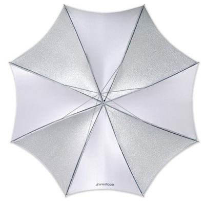 Westcott 2001 (109cm/43 Inch) Opvouwbare Paraplu Optical White Satin