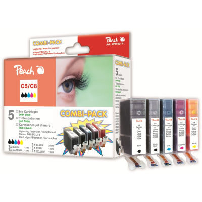 Peach Inktpatroonset CLI-8 BK/C/M/Y & PGI-5BK (5-pack)