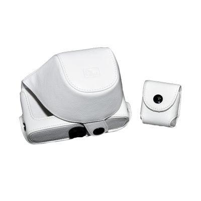 ONE OC-EP1W Leathercase Wit voor de Olympus E-P1 en E-P2
