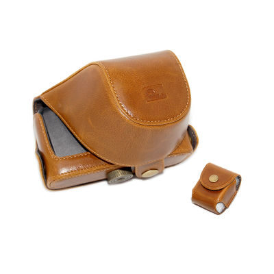 ONE OC-EP1Y Leathercase Bruin voor de Olympus E-P1 en E-P2