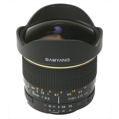 Samyang 8mm f/3.5 Fisheye CS MC Canon objectief