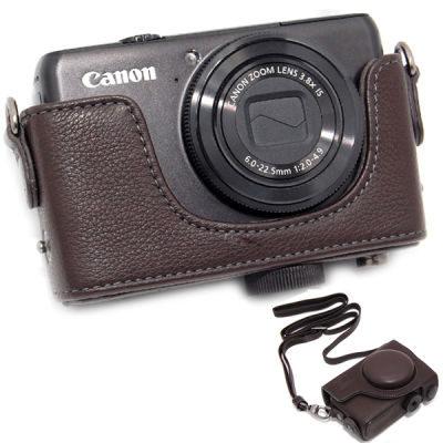 ONE OC-S90R Leathercase voor Canon PowerShot S90, S95