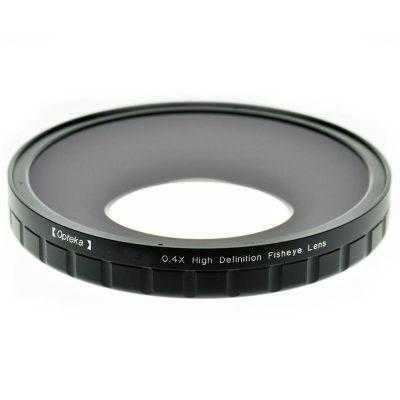 Opteka 0.4X HD2 Fisheye Lens voor Professional Video Camcorders 82mm