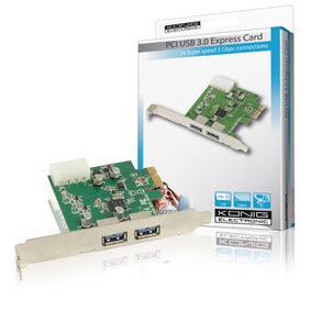 König USB 3.0 PCI Kaart (PCI EXPRESS 2x USB 3.0)