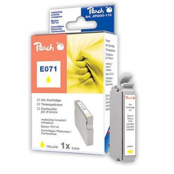 Peach Inktpatroon T0714 Yellow/Geel