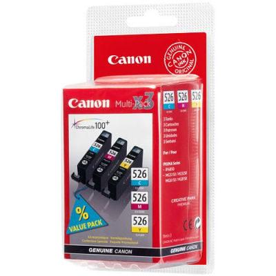 Canon Inktpatroonset CLI-526 C/M/Y Pack (origineel)