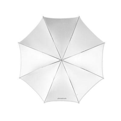 Westcott 2005 (114cm/45 Inch) Optical White Satin Paraplu