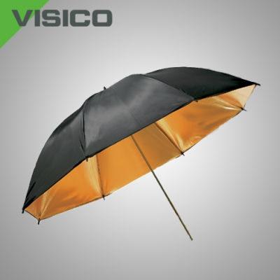 Visico Dual-Duty Paraplu UB-006G Zwart/goud 80cm
