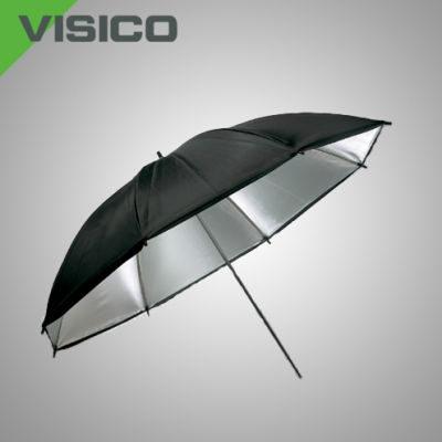 Visico Dual-Duty Paraplu UB-006S Zwart/zilver 80cm