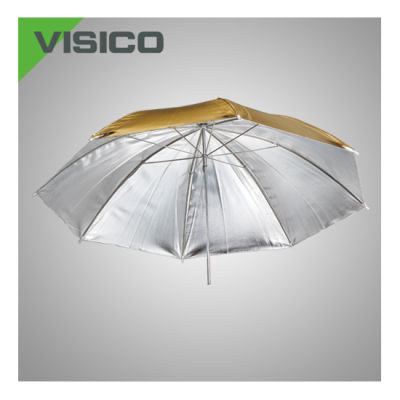 Visico Reversible Paraplu UB-005G Goud/zilver 90cm
