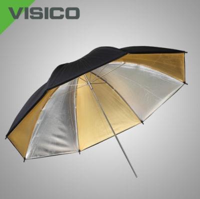 Visico Panel Paraplu UB-011 Goud/zilver 110cm