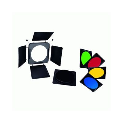 Linkstar Kleppenset LFA-BD + 4 Kleurenfilters en grid voor LF Series