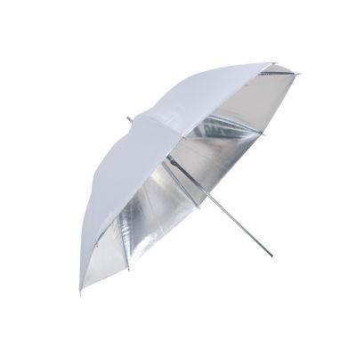Linkstar Flitsparaplu PUK-102SW Zilver/Wit 120cm (Omkeerbaar)
