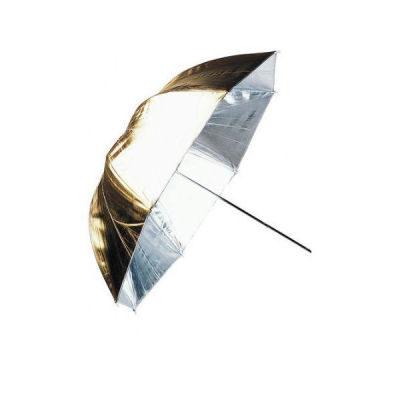 Linkstar Flitsparaplu PUK-84GS Goud/Zilver 100cm (Omkeerbaar)