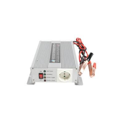 HQ Omvormer 600W met ingebouwde lader (12-230V)