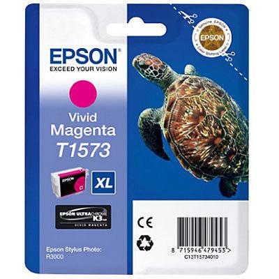 Epson Inktpatroon T1573 Vivid Magenta (origineel)
