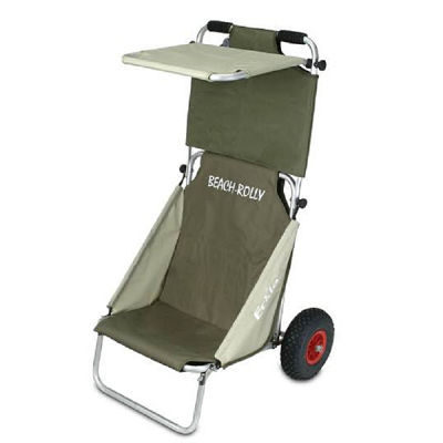 HBN Transport Trolley Eckla (Beach Rolly Olive-Beige met dak)