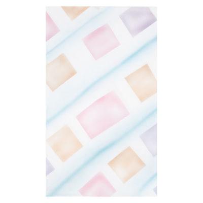 Botero Muslin Achtergronddoek 316 x 700cm White/Pink/Yellow/Blue nr. 058