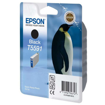 Epson Inktpatroon T5591 - Zwart (origineel)