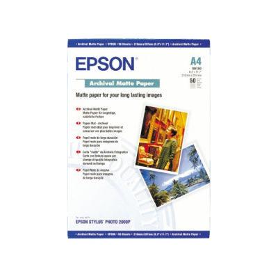 Epson Archival Matte Paper, DIN A4, 189g/m², 50 Sheets