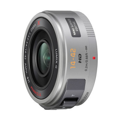 Panasonic Lumix G X Vario PZ 14-42mm f/3.5-5.6 Asph objectief Zilver (H-PS14042)