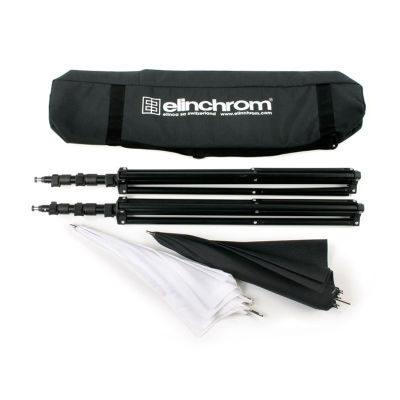 Elinchrom Stand/Umbrella Set To Go- 2x Stand + 2x Paraplu (silver + translucent) in tas