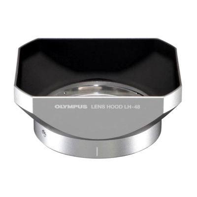 Olympus LH-48 Zonnekap (metal) Zilver