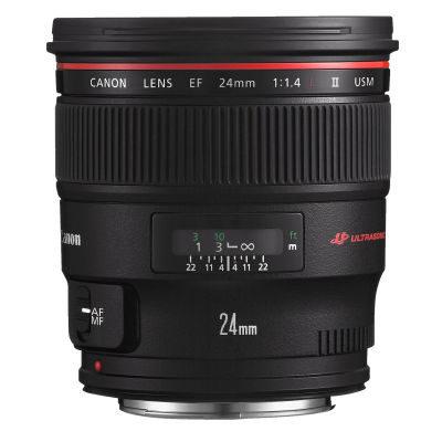 Canon EF 24mm f/1.4L USM II objectief - Verhuur