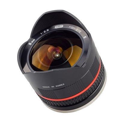 Samyang 8mm f/2.8 Fisheye UMC Samsung NX objectief Zwart