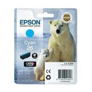 Epson Inktpatroon 26 - Cyan Standard Capacity