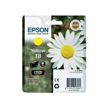 Epson Inktpatroon 18 - Yellow Standard Capacity