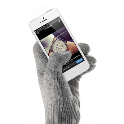 Mujjo Touchscreen Gloves Natural Grey S/M