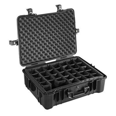 B&W Outdoor Case Type 65 - Zwart met Vakverdeler