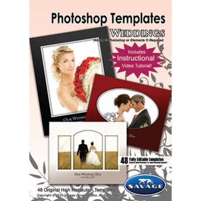 Savage Wedding Photoshop Templates