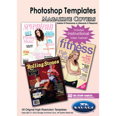 Savage Magazine Cover Photoshop Templates