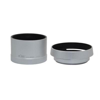 Kiwi Lens Adapter en Zonnekap voor Leica X1/X2 Zilver