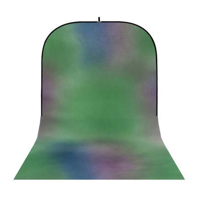 Botero Opvouwbare Achtergrond 250 x 500cm (Green, Blue, Violet nr.007)