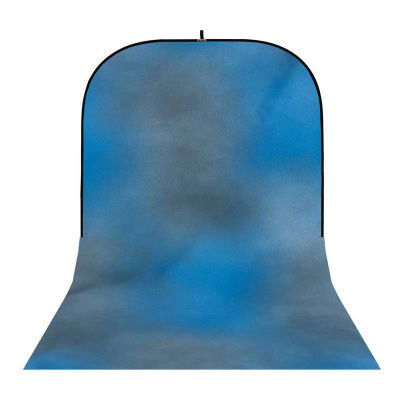 Botero Opvouwbare Achtergrond 250 x 500cm (Blue, Grey nr.004)