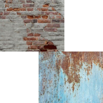 Lastolite Urban Collapsible Rusty Metal/Plaster Wall 150x210cm