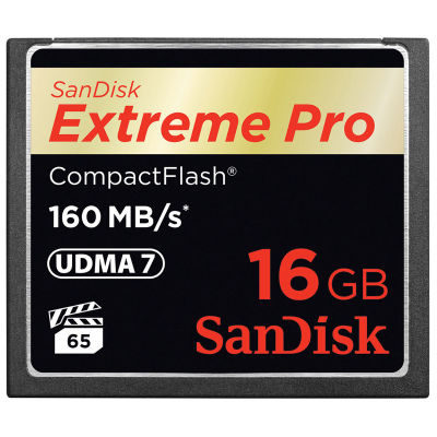 SanDisk 16GB Compact Flash Extreme Pro 160MB/sec geheugenkaart