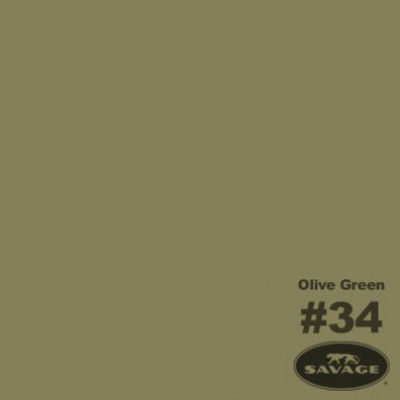 Savage Achtergrondrol Olive Green (nr 34) 1.38m x 11m