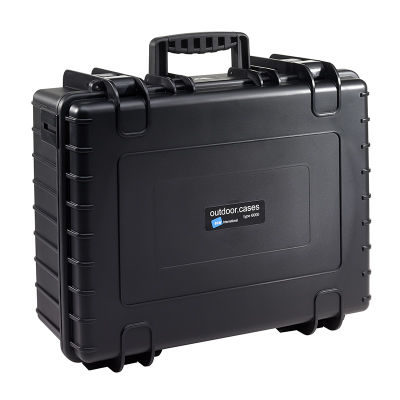 B&W Outdoor Case Type 6000 - Zwart met Plukschuim