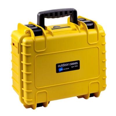 B&W Outdoor Case Type 3000 - Geel met Vakverdeler