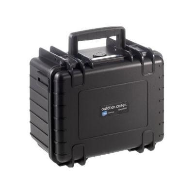 0f07501fc81 B&W Outdoor Case Type 2000 - Zwart met Plukschuim