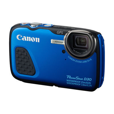 Canon PowerShot D30 compact camera Blauw