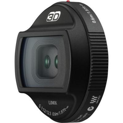 Panasonic 3D lens Lumix G 12.5mm f/12 objectief