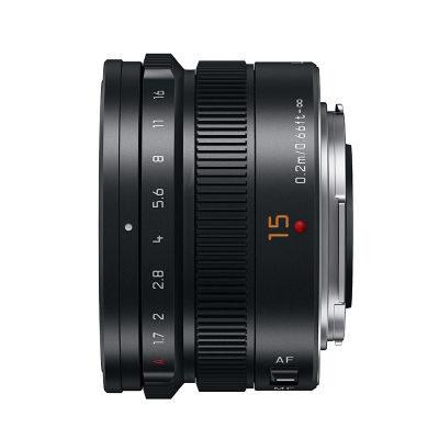 Panasonic Leica DG Summilux 15mm f/1.7 ASPH objectief Zwart